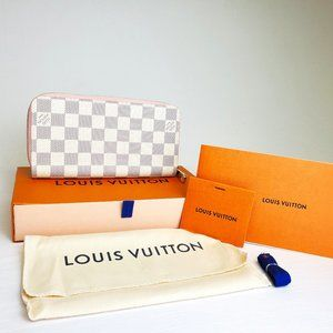 LV Wallet Demiar Azur Zippy Wallet Rose Balerine